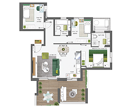 Building 4 | 4 rooms - type B | Apartment 3
