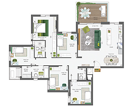 Building 4 | 6 rooms - type A | North West