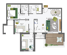 Building 5 | 4 rooms - type C | South
