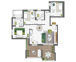 Building 4 | 4 rooms - type B | apartment 5