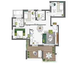 Building 5 | 4 rooms - type B | apartment 5