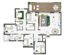 Building 5 | 6 Rooms | North-West-South | Typhus M